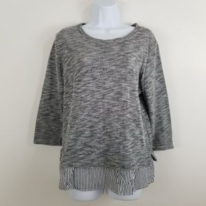 Anthropologie Clu & Willoughby Ruffle Back Pullove